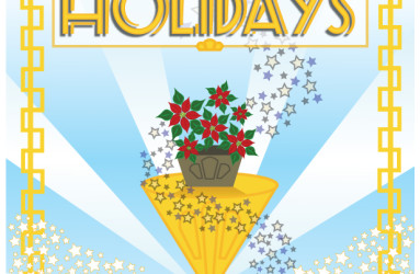Art Deco Holiday Card by Maddy Beaupré mcbeaupre.com