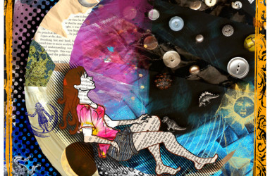 Moon Girl Collage - illustration by Maddy Beaupré mcbeaupre.com