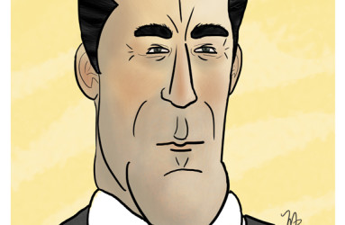 Don Draper - illustration by Maddy Beaupré . mcbeaupre.com