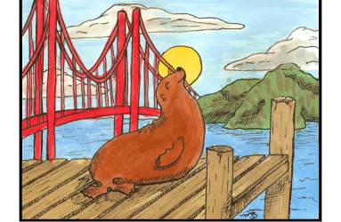 San Fran Sea Lion - illustration by Maddy Beaupré. mcbeaupre.com