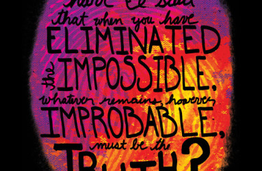 Impossible Truth - illustration by Maddy Beaupré. mcbeaupre.com