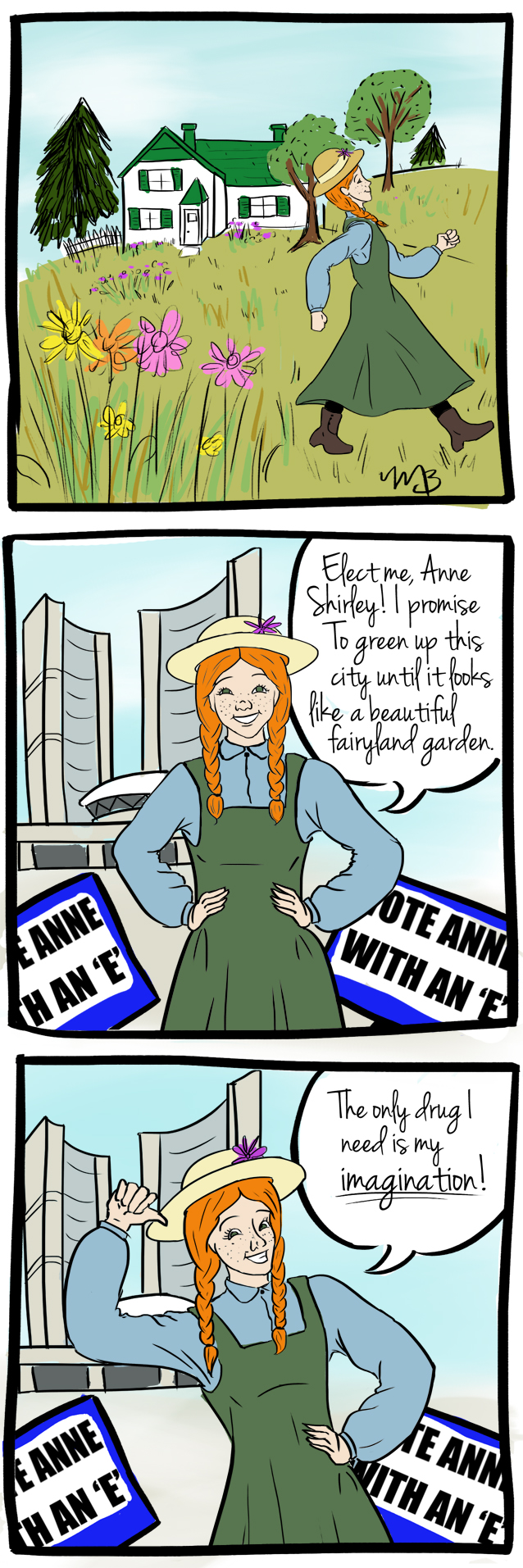 Anne Shirley for Mayor - 2013 - Done for Women Write About Comics by Maddy Beaupré